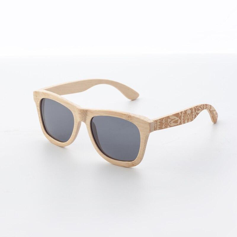 bambu quadro polarizado óculos de sol de praia