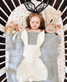 2016 New Autumn Baby Blankets Cute Gray Rabbit Knitted Swaddling For Bed Sofa Cobertores Mantas BedSpread Bath Towels Gift