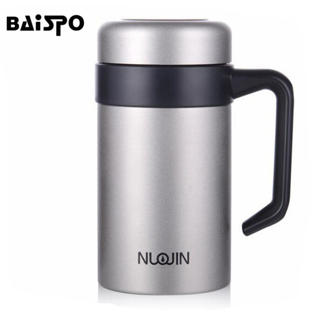 0d3992eab8 16oz Vacuum Bottle Thermos Stainless Steel Insulated Coffee Cup Travel  Drink Bottle Handle Insulation Cup Gift Coffee Beer Cup