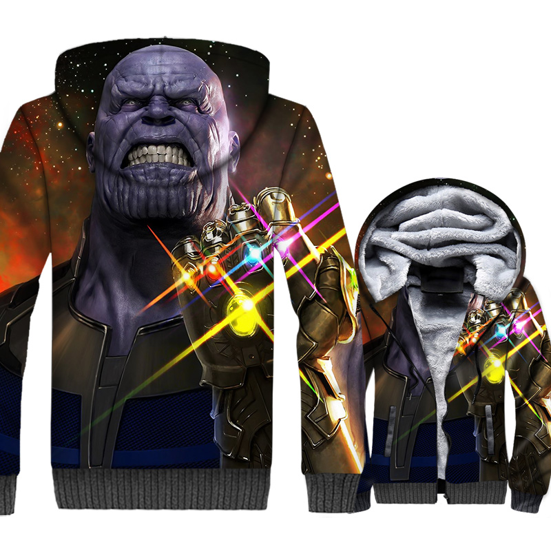 iron Man Thanos Black panther tracksuits Super hero Captain America jackets coats 3D printed hooded hoodies men sweatshirst 2019