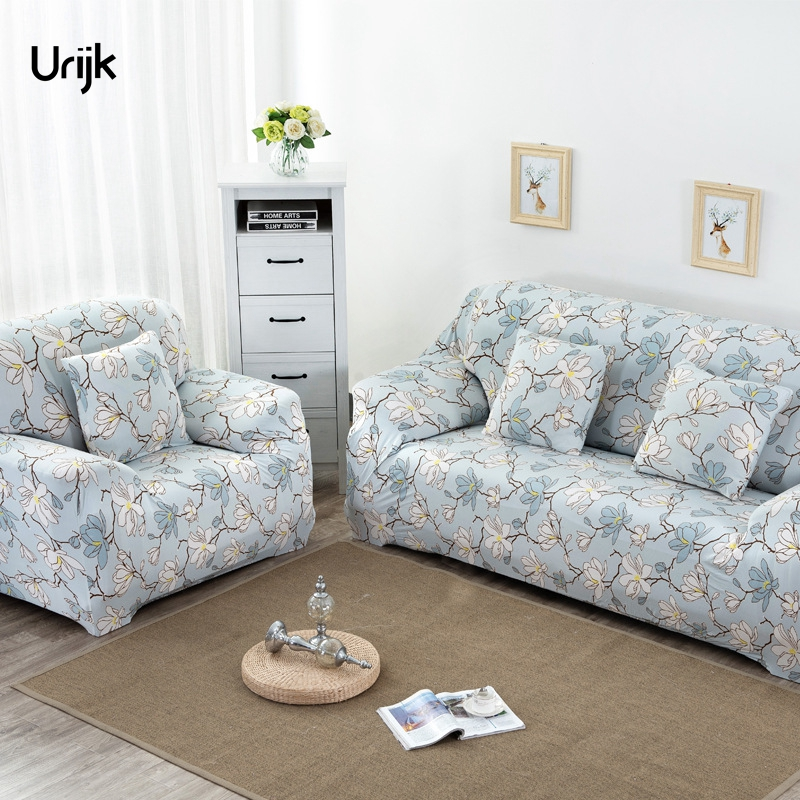 Urijk 1PC Sofa Slipcovers Cheap Stretch Big Elasticity Furniture Covers Loveseat Sofa Cover Floral Printed Universal
