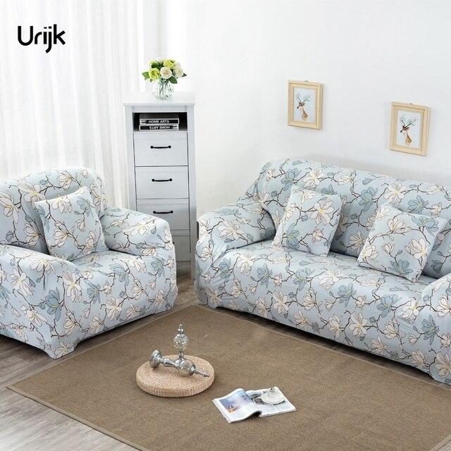 Urijk 1pc Sofa Slipcovers Stretch Elasticity Furniture Covers Loveseat Cover Fl Printed Universal