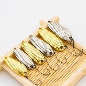 Image 2 - 2Pcs Metall Löffel Fischerei Locken Micro Süßwasser Angelgerät 1,5g /3g /5g Silber/gold Mini Harten Köder Isca Künstliche Pesca