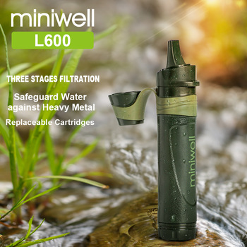 Outdoor survival Camping equipment military mini water filter portable outdoor straw water filter 4