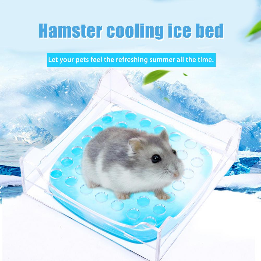 Cute Small Animal Pet Hamster Supplies Summer Cooling Pad House Pet Cooling House Nest Guinea Pig Hamster Cage