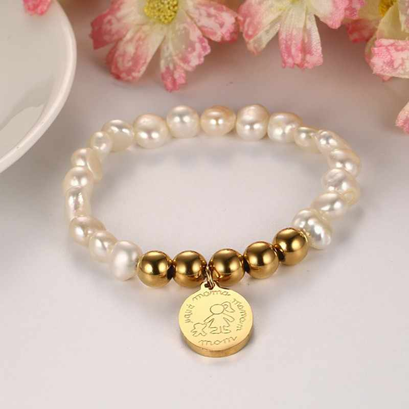 Virgin Mary Beads Bracelets Woman Charm Natural Freshwater Pearls Yoga Jewelry