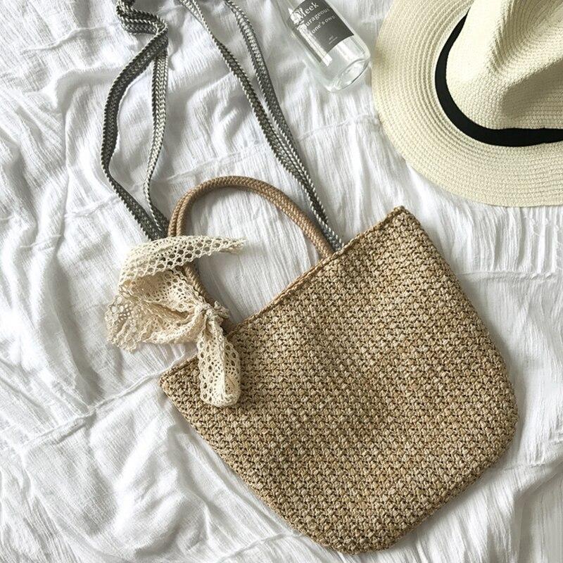 40da15cdd HCH-Retro saco do mensageiro Mulher bolsa de palha Meninas shoulder bolsa  tote bolsa de