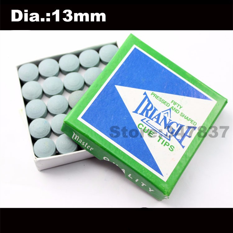 Billiards Cue Tips 50 pieces 13mm made in china