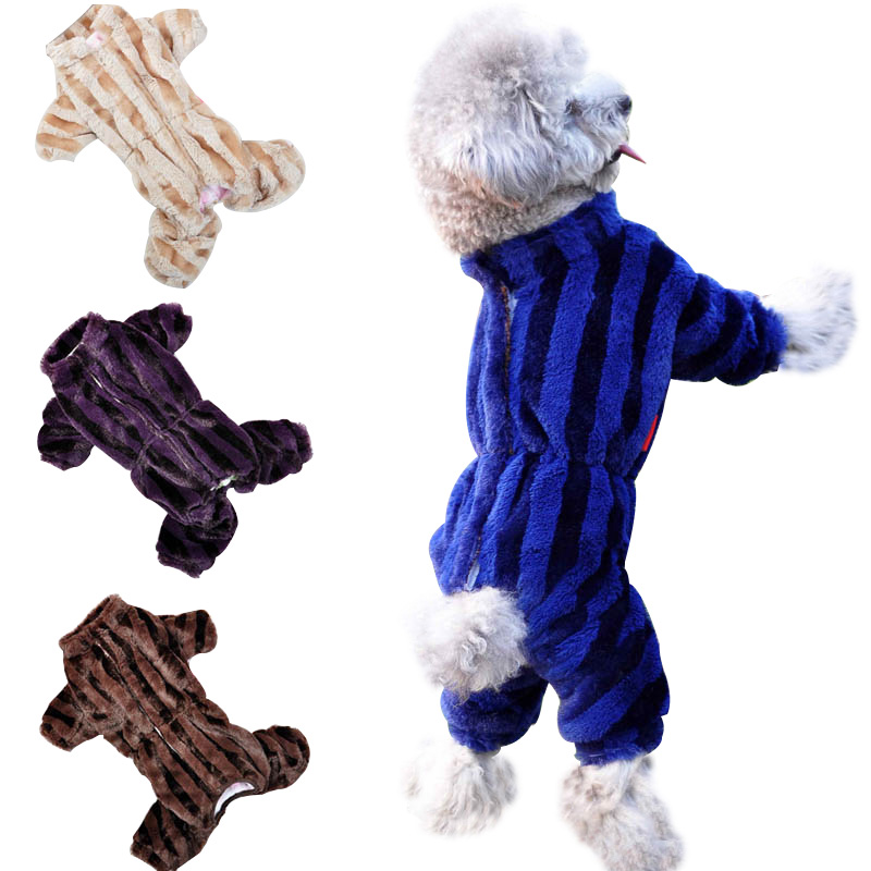 Wholesale Cheap Pet Puppy Dog Clothes Autumn Winter Overall Thickening Dog Down Jumpsuit Warm Lining Puppy Coat Size 8-18