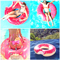 2017 Lastest New Hot Sale Fashion 60cm 70cm 80cm 90cm 120cm Donut Swimming Toy Summer Water Sport Inflatable Toy Free Shipping