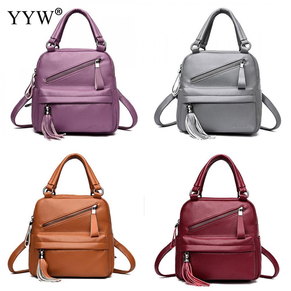 Fashion Women Backpack High Quality PU Leather Backpacks Mini for Teenage  Girls Casual Totes Female Small School Shoulder Bags 555b7b4e7cd2e