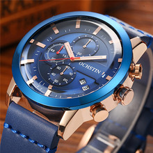 OCHSTIN Mens Watches Top Brand Luxury Male Leather Sport Waterproof Chronograph Quartz Military Wrist Watch Men Clock Saat 2017