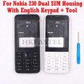 Для Nokia 230 Dual SIM новый полный чехол для телефона + английская клавиатура + Инструменты Бесплатная доставка