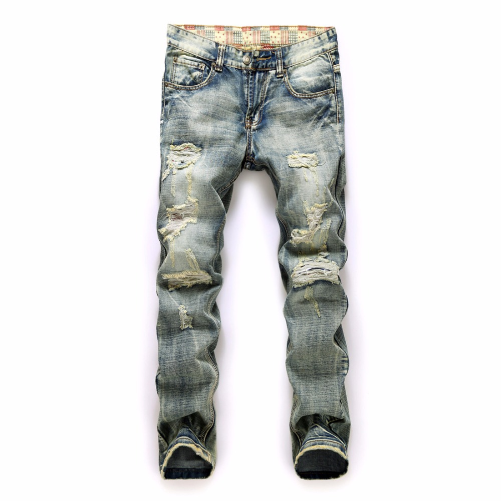 Kanye West Skinny Ripped Jeans For Men Male Black Motorcycle Camouflage Jeans Denim Pants Fashion Brand Swag Hole Biker Jeans jeans west jeans west 21999 01
