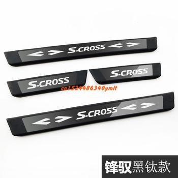 High-quality stainless steel  Plate Door Sill Welcome Pedal Car Styling Accessories for Suzuki S-CROSS 2014 2015 2016 2017 2018
