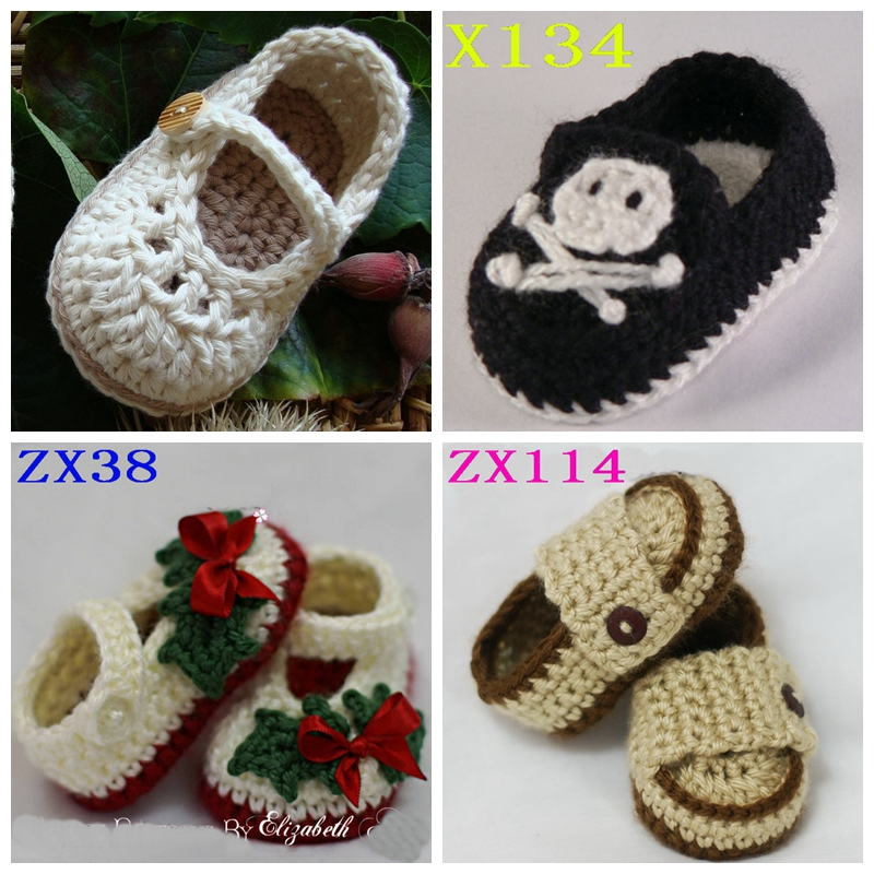 Retailing 1 pair First Walkers baby boots Shoes winter children shoes boots Handmade Crochet Newborn baby boys and grils