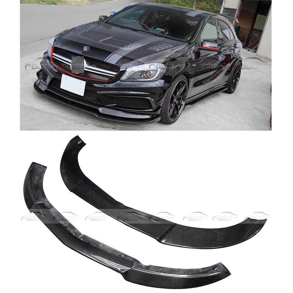 Fits For Mercedes-Benz W176 A250 VRS Style Carbon Fiber Front Bumper Spoiler Lip for mercedes benz cla class w117 cla180 cla200 cla250 cla45 amg carbon fiber front lip splitter flap canard fits sporty car amg