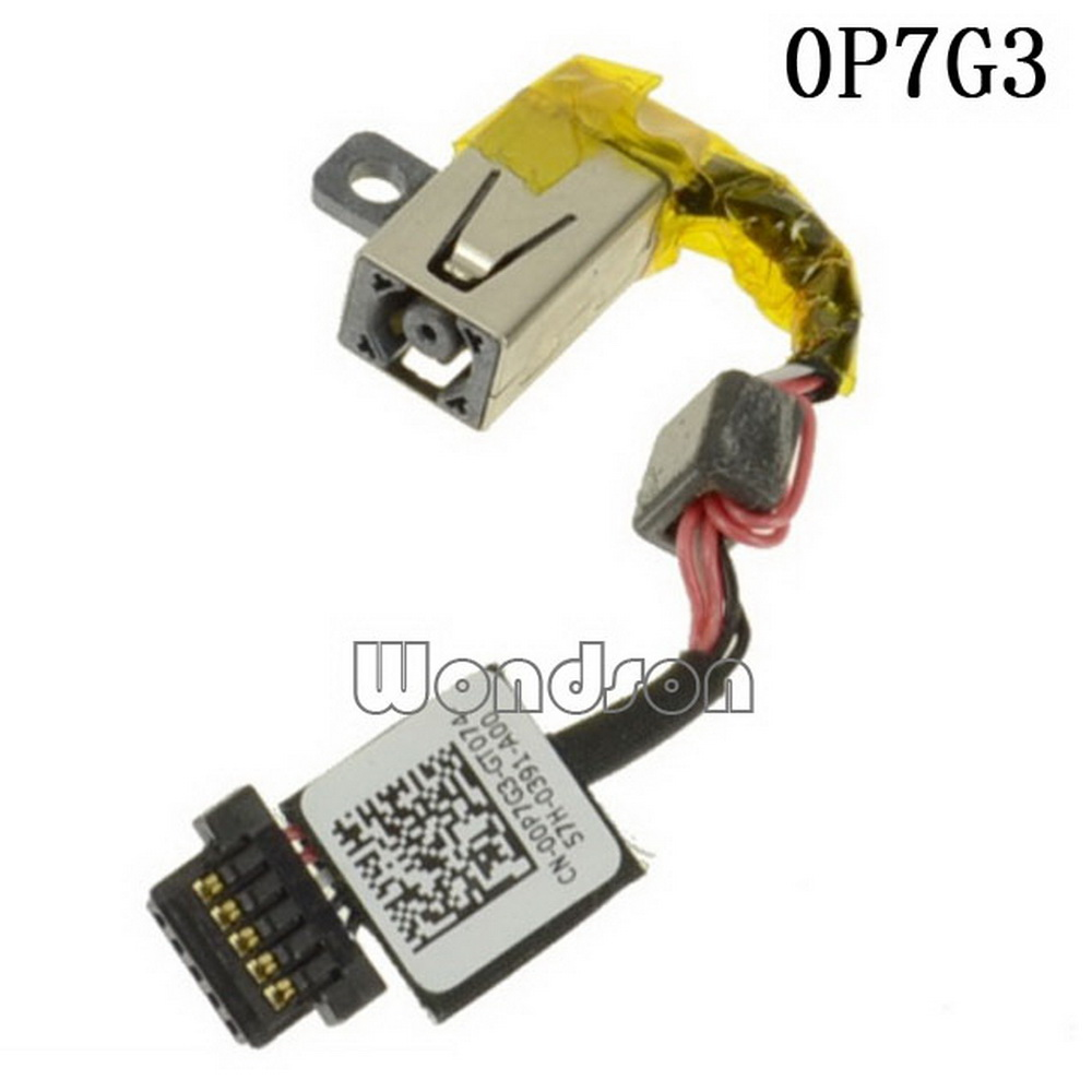 Original DC Cable For Dell  XPS 13 (9343) (9350) DC Power Input Jack With Cable - 0P7G3 00P7G3  W/ 1 Year Warranty