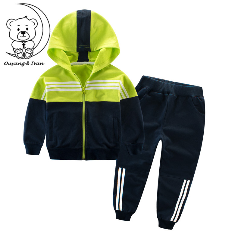 2018children's set for spring autumn boys sets sprots clothes110-160cm girls clothing boy girl sport suit cotton two-piece suit i k boy vest suit breathable sport suit for boys 2017 summer new arrived children clothing two piece set comfortable suits a1082