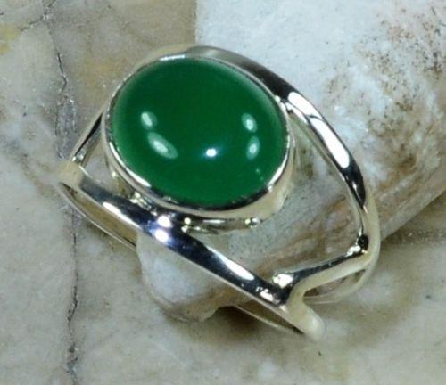 Рука сделать Природа Зеленого Оникса Кольцо 100% Стерлингового Серебра 925 Пробы, 3.6 Г, размер: 7.5, подарочная КОРОБКА
