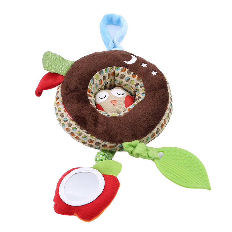 Animal Owl Shape Baby Bed Stroller Hanging Rattles Grasping Doll Toys Bed Hanging Toys With Teether Newborn Mobile Appease Toy