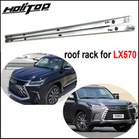 New arrival for LEXUS LX LX570 roof rack roof rail luggage bar 2008 2020 2pcs/set old & new LX all are fit free shipping to Aisa|Armrests| |  -