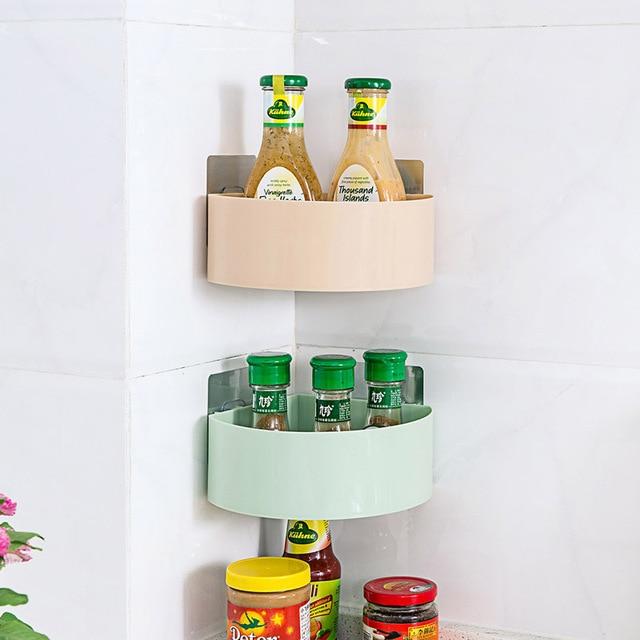 Us 866 Z Tworzywa Sztucznego Półka Narożna łazienka Stojak Do Przechowywania Kuchnia łazienka Zestaw Kosmetyków Regał Z Półkami Do Przechowywania W