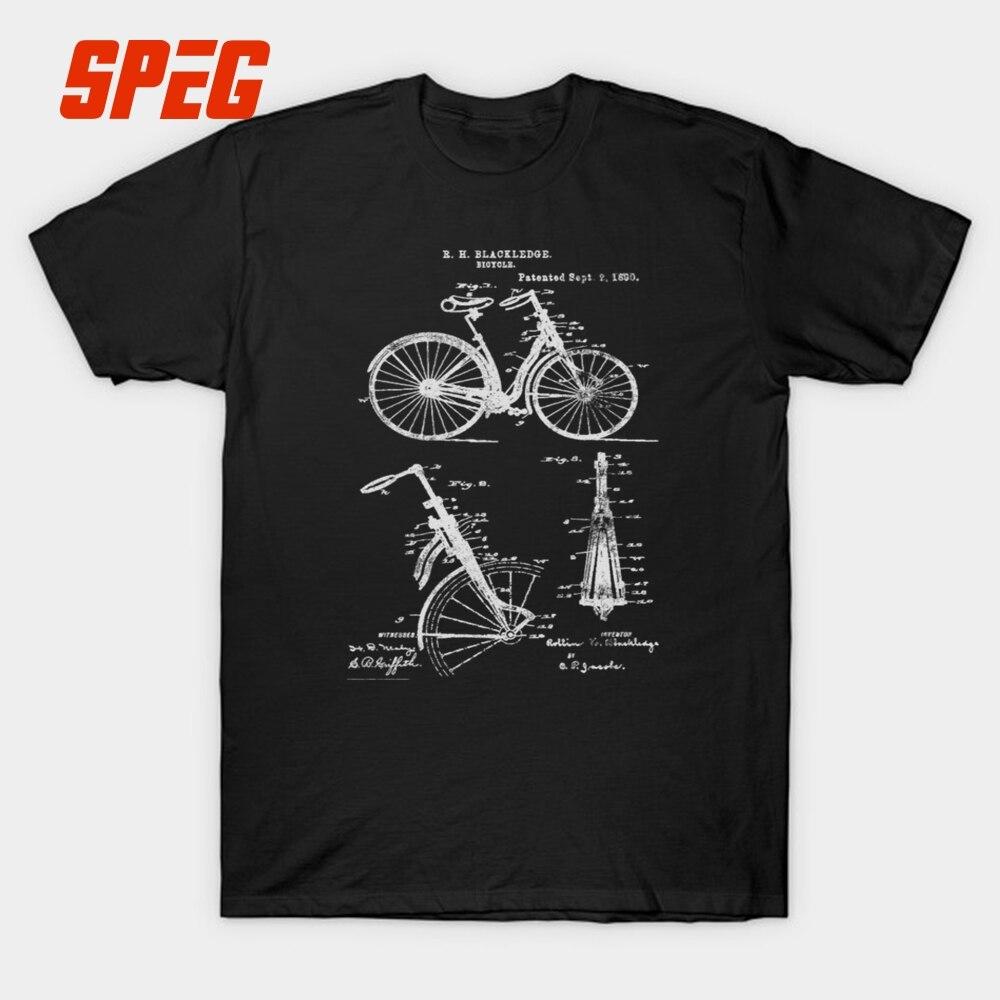 Bicicleta Suspensión Delantera Vintage Estructura De Bicicleta Camiseta Hombres 1890 Bicicleta De Montaña Cuello Redondo Camiseta 100% Algodón Manga Corta