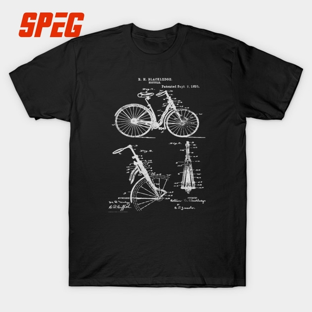 dcd331a1aa9d36 Rowerów przednie zawieszenie w stylu Vintage jazda na rowerze struktura T  Shirt mężczyźni 1890 kolarstwo górskie