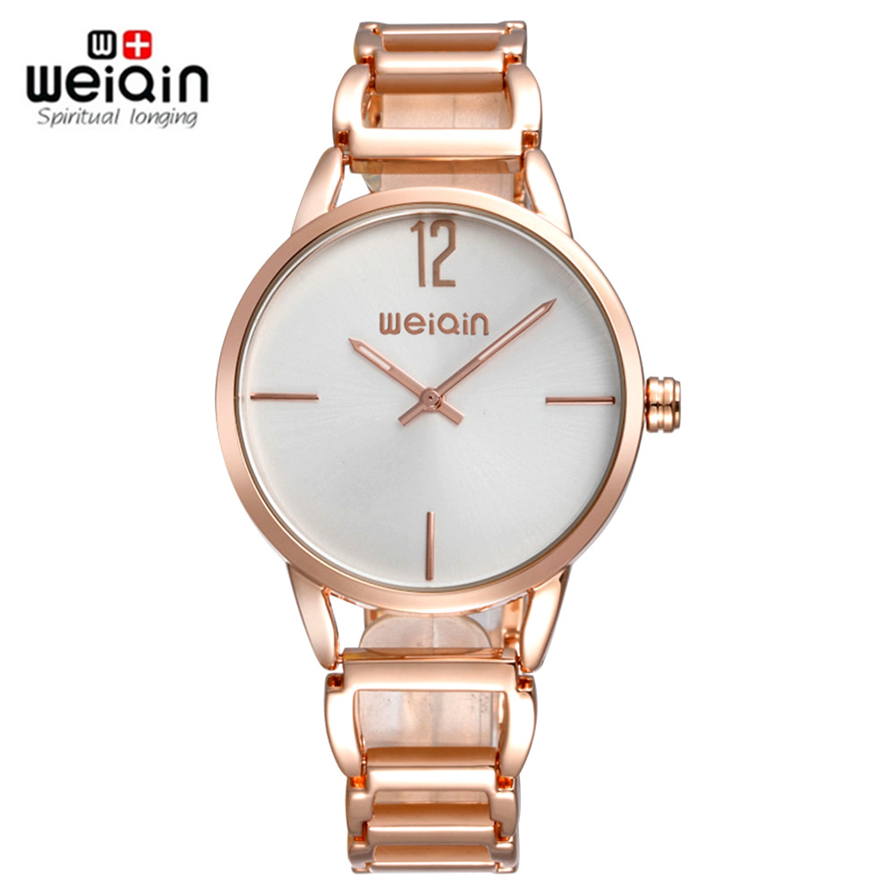 2017 New WEIQIN Luxury Brand Quartz Women Watches Clock Women Bracelet Ladies Dress Gold Wristwatch Gift Female Relogio Feminino 2017 new quartz watches woman s top brand for gift leather bracelet luxury women s watches