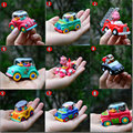 The small penguin animated cartoon toys exported to South Korea car back fire the ambulance car