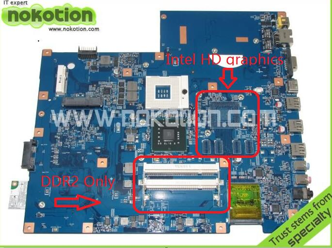 NOKOTION 48.4FX01.01M MBPJB01001 laptop motherboard for ACER 7736z series INTEL GL40 MB.PJB01.001 GMA 4500M DDR2 MainboardNOKOTION 48.4FX01.01M MBPJB01001 laptop motherboard for ACER 7736z series INTEL GL40 MB.PJB01.001 GMA 4500M DDR2 Mainboard