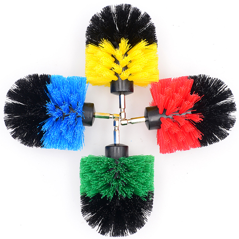 Car Electric Drill Brush Ball Plastic Wire Scrubbing Brushes For Car Tires Detailing Rims Wheel Engine Wash Cleaning Accessory long handle car wheel brush car wash brush soft bristle cleaning wheel vehicle body surface wheel scrub cleaning