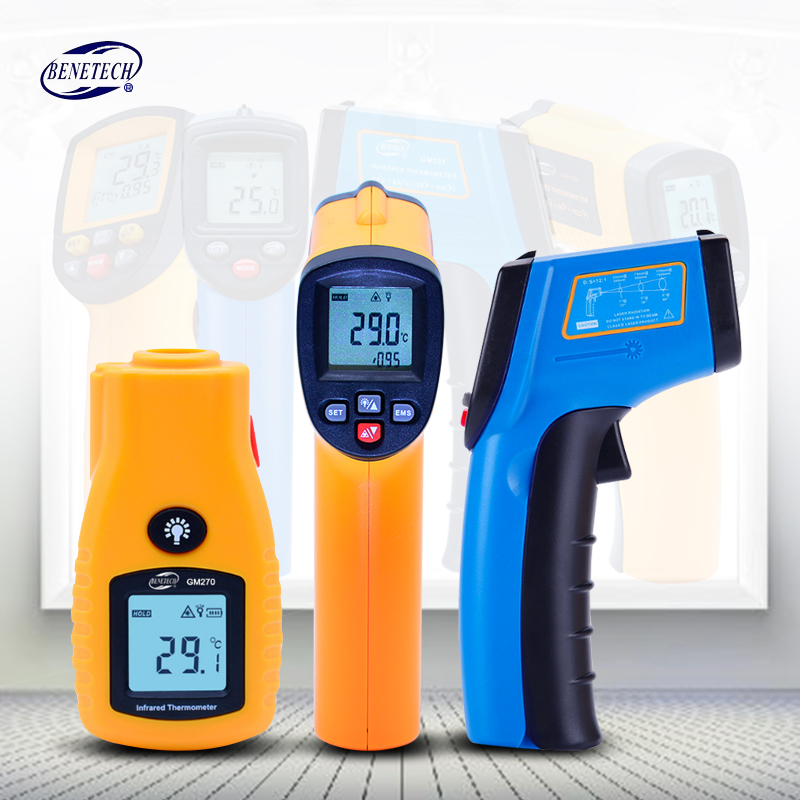 BENETECH Digital thermometer gun non contact infrared thermometer temperature gun ir thermometer industrial GM320~GM900