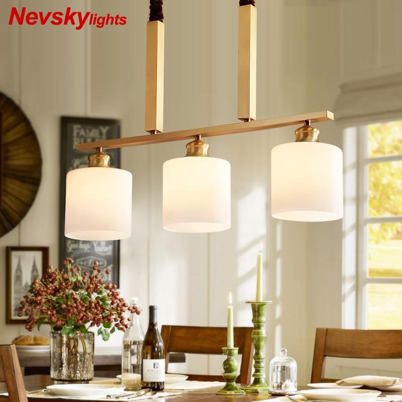 Copper Pendant Light For Dining room hanglamp lustre salon modern ...