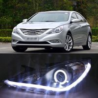 Ownsun превосходной гладкой waterflow СИД DRL Ангел глаз фара для Hyundai Sonata 2012