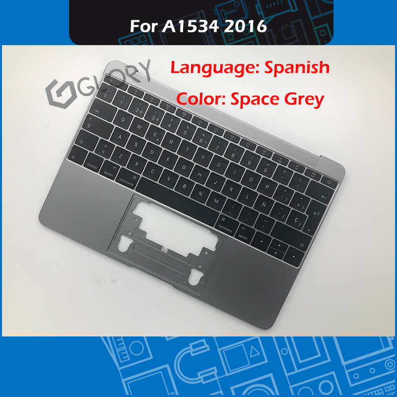 Gris A1534 Top Case + clavier pour Macbook Retina 12