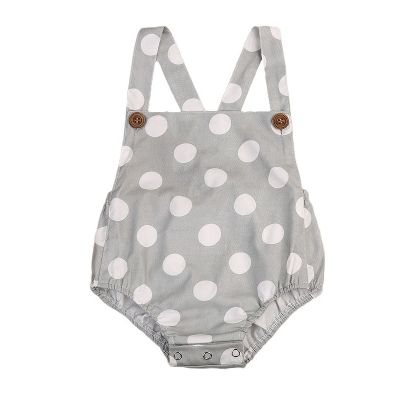 0-18M Newborn Infant Baby Boy Girl Romper Sleeveless Polka Dot Toddler Kids Jumpsuit One Pieces Sunsuit Clothes