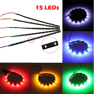 Image 4 - 12V Car Interior Led Strip Sticker Daytime Running Lights Waterproof Flexible Car Light 4 Color