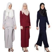 0dc7f3d8ed6f Abaya Donne Musulmane Set Abbigliamento Islamico Jilbab Abito Da Cocktail  Vintage Maxi Robe Hijab Ramadan Vestiti Magliette e ca.