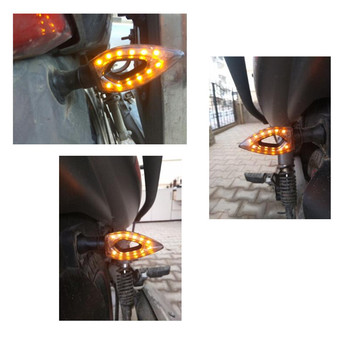 1pc 12 LED Turn Signal Motorcycle Turn Signals Light Tail Lights Indicators for Moto Motorbike Motorcycle Accessories yellow red 1