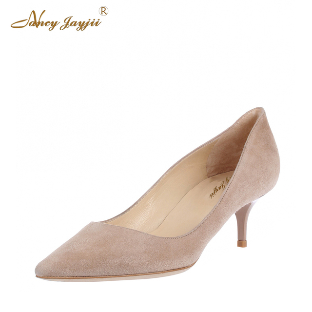 8720fdc3c6068 Nancyjayjii Woman Casual Suede Pointed Toe Low Med High Heels Pumps Gray  Shoes For Women Plus Size 5-14,Dress&Career&Office