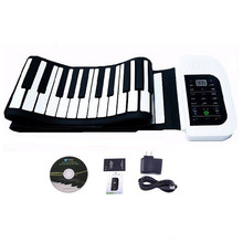 Electronic 88 Key MIDI Flexible Roll Up Piano Hand-rolling Folding Keyboards