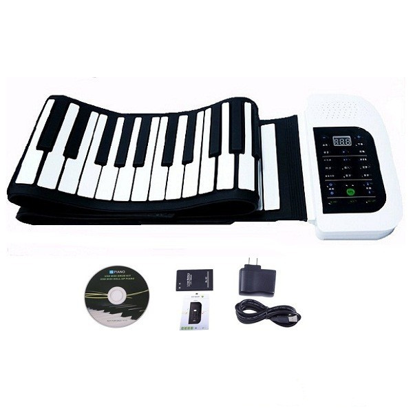 Electronic 88 Key MIDI Flexible Roll Up Piano Hand-rolling Folding Keyboards For Beginner