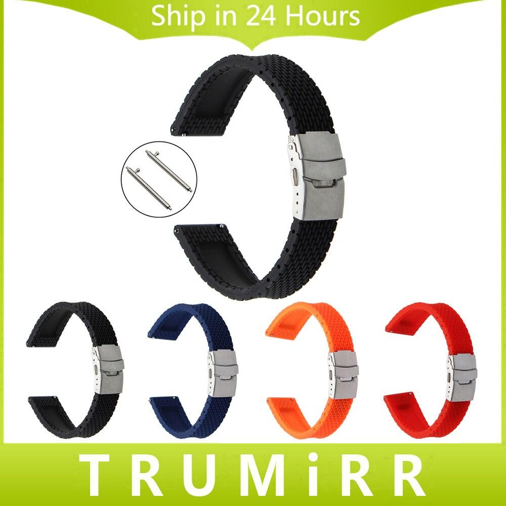 Quick Release Silicone Rubber Watchband + Tool for Diesel DZ Men Women Watch Band Safety Buckle Strap Wrist Belt 20mm 22mm 24mm