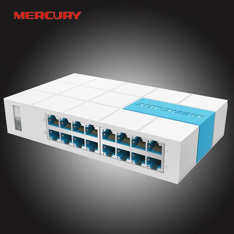 Mercury S116M 10/100Mbps 16 Ports Fast Ethernet LAN RJ45 Vlan Network Switch Switcher Hub Desktop PC