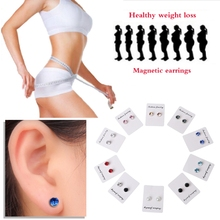 1 Pair Weight Loss Earrings Healthy Stimulating Acupoints Stud Magnetic Therapy