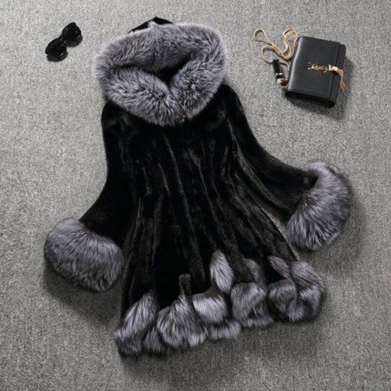 Krzneni kaput od visokog imitacije, srebrni krzneni ovratnik, - Ženska odjeća - Foto 5