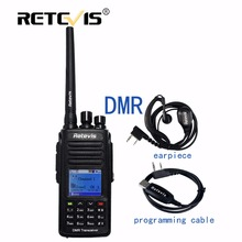 DMR Digital Radio (GPS) Walkie Talkie Retevis UHF MR-8 5 W 1000CH (o VHF) Cifrado Radioaficionado Transceptor Cable IP67 A Prueba de agua