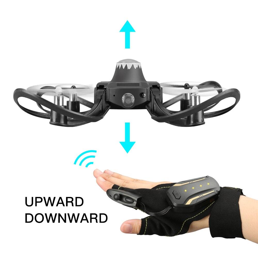 2019 neue original W606-16 Valcano handschuhe control interaktive mini drone Quadcopter Wifi FPV 480P kamera RC hubschrauber